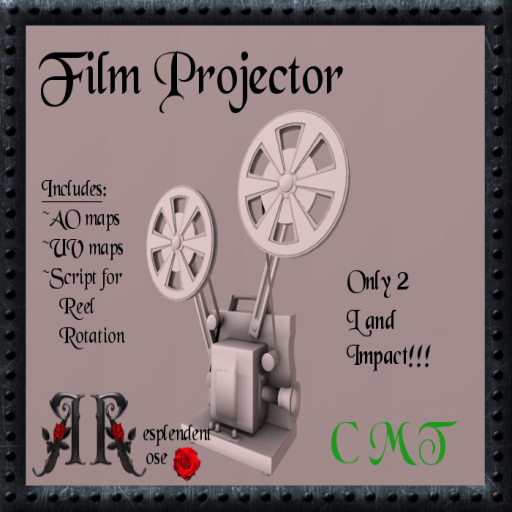 Resplendent Rose Film Projector