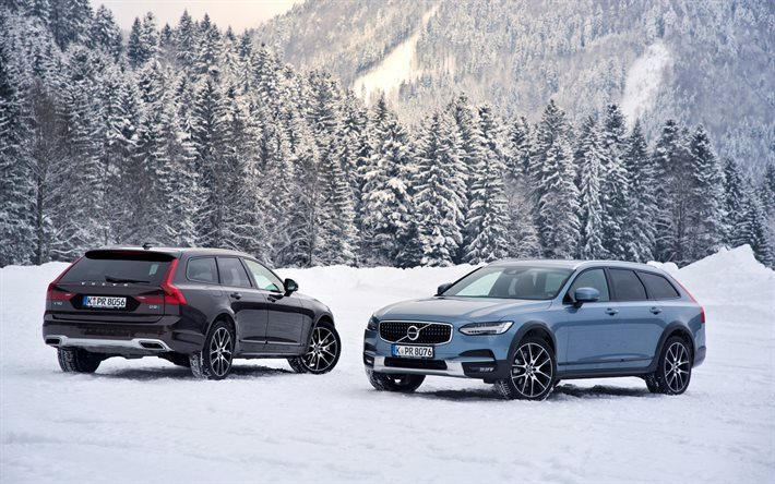 Cross Country Quotes Wallpaper Download Wallpapers Volvo V90 Cross Country 2017 Winter
