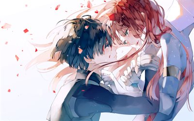 Crying Girl Wallpapers With Quotes Download Wallpapers Zero Two Hiro Manga Cry Darling In
