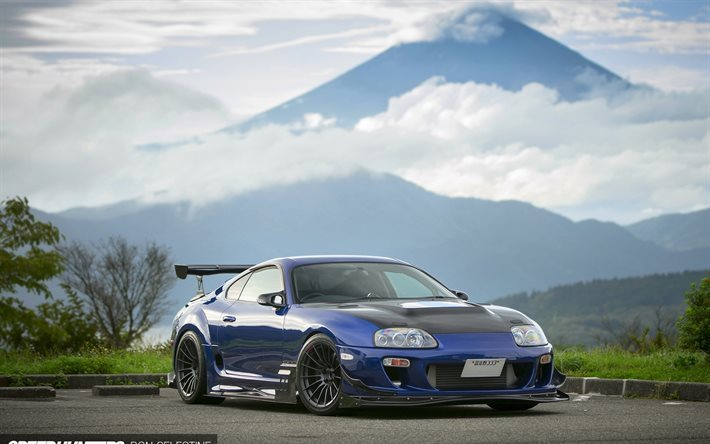 Best Car Drifting Wallpapers Download Wallpapers Toyota Supra Blue Toyota Sports Car