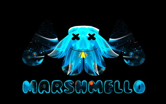 Download Cool Quotes Wallpapers Download Wallpapers Marshmello Creative Logo Dj Art For