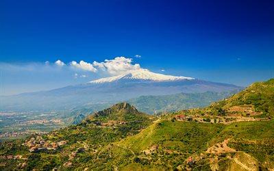 4k Wallpaper 3d National Geographic Download Wallpapers Mount Etna 4k Summer Stratovolcano