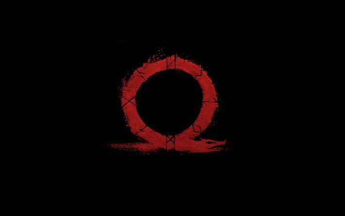 Wallpapers Hd Widescreen High Quality Desktop 3d Download Wallpapers God Of War 4 New Omega Logo Black