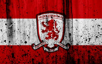 3d Logo Wallpaper Download Wallpapers 4k Fc Middlesbrough Grunge Efl