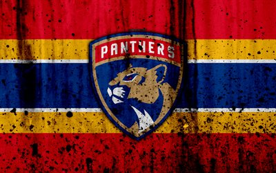 3d Hq Wallpaper Download Download Wallpapers 4k Florida Panthers Grunge Nhl
