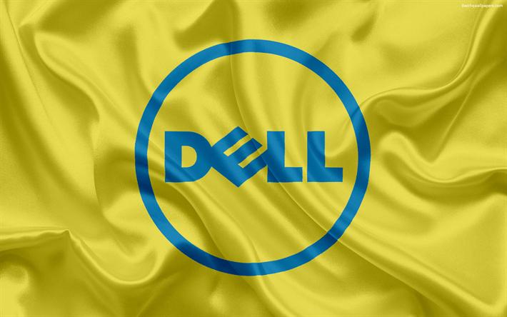 3d Hq Wallpaper Download Download Wallpapers Dell Emblem Dell Logo Yellow Silk