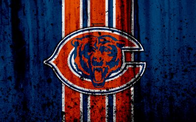Chicago Bears Hd Wallpaper Download Wallpapers 4k Chicago Bears Grunge Nfl