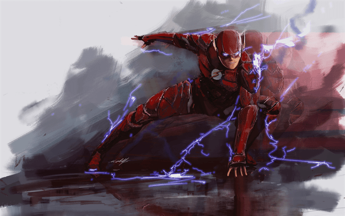 Marvel Superheroes 3d Wallpapers Descargar Fondos De Pantalla Flash El Rel 225 Mpago El Arte
