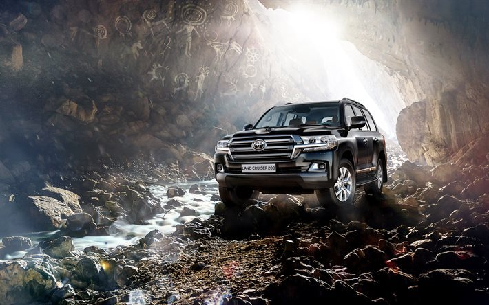 Luxury Car Interior Wallpapers Download Wallpapers Toyota Land Cruiser 200 4k 2016 Cars