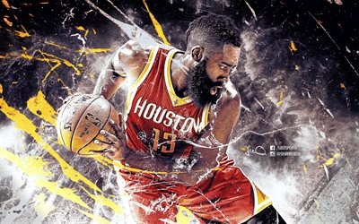 James Harden Wallpaper 3d Download Wallpapers Houston Rockets Nba James Harden