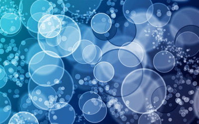 Download wallpapers Blue circles, abstraction from circles, blue bubbles, creative water ...