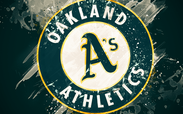 Club America Wallpapers 3d Download Wallpapers Oakland Athletics 4k Grunge Art