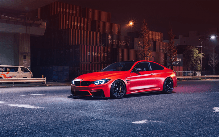 Wallpaper For Pc Desktop Free Download Car Download Wallpapers Bmw M4 F82 Red Sports Coupe Night