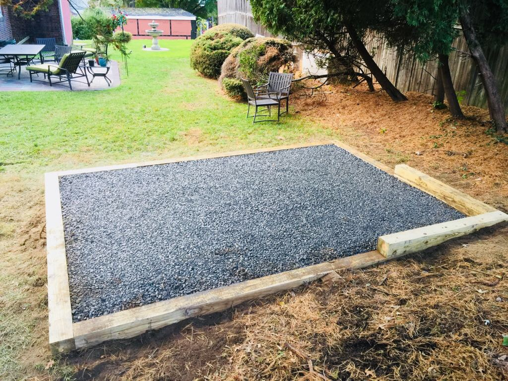 Reliable Shed Site Preparation Gravel Concrete Bases