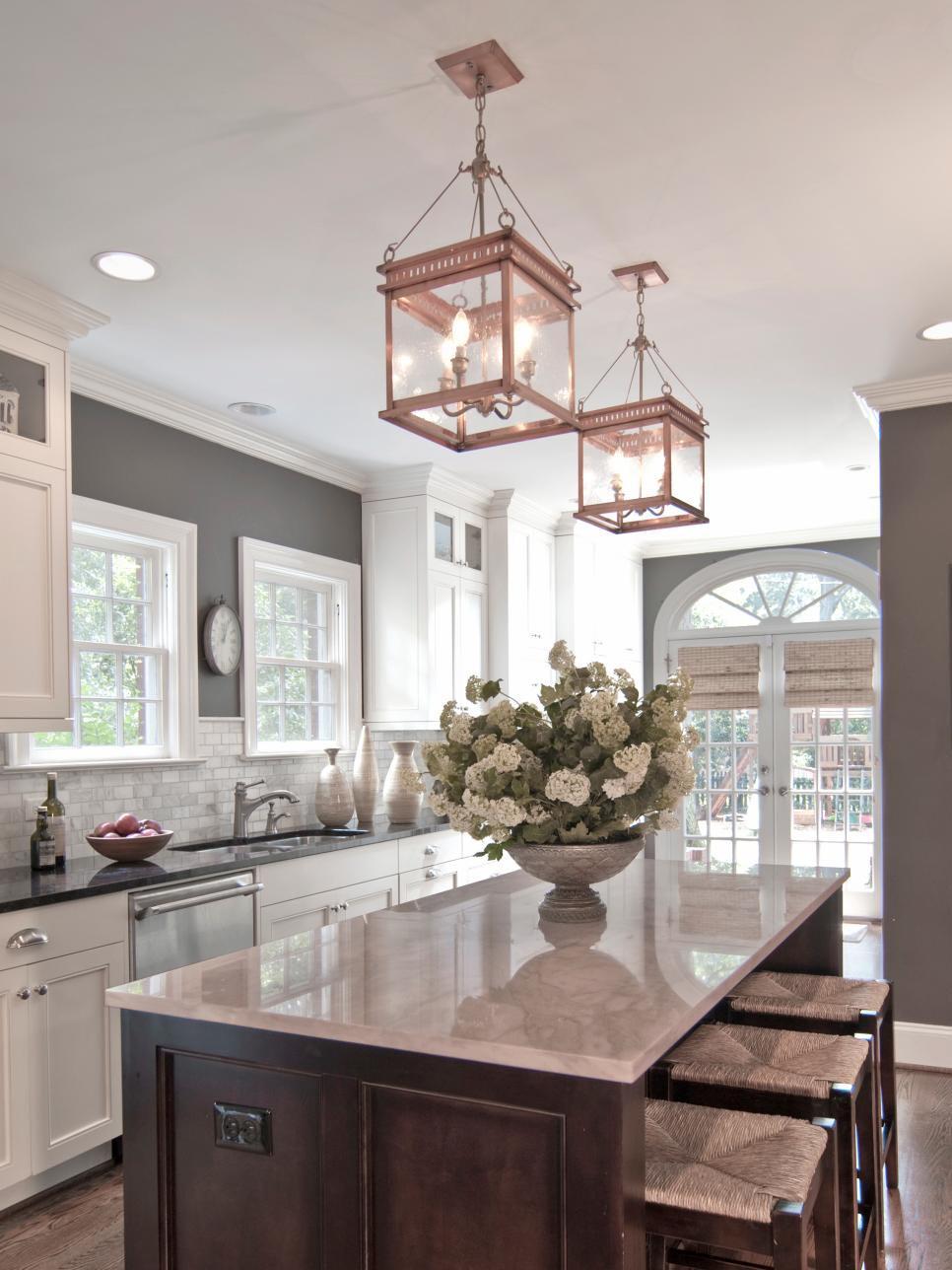 Copper Light Fixture Kitchen