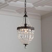 Bronze Mini Chandelier With Crystals | Light Fixtures ...