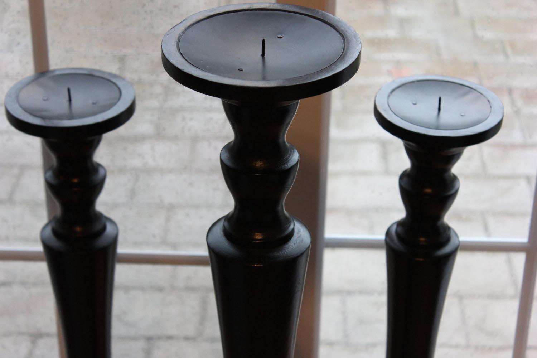 Tall Wooden Candle Holders Light Fixtures Design Ideas