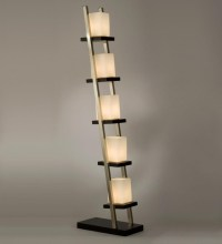 Standing Lamp With Shelves