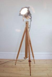 Vintage Wooden Floor Lamp | Light Fixtures Design Ideas