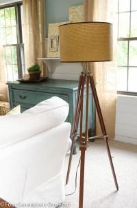 Walnut Tripod Floor Lamp | Light Fixtures Design Ideas