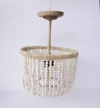 Wood Bead Chandelier DIY