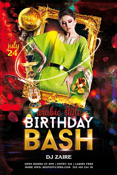 Birthday Bash PSD Free Flyer Template Best of Flyers