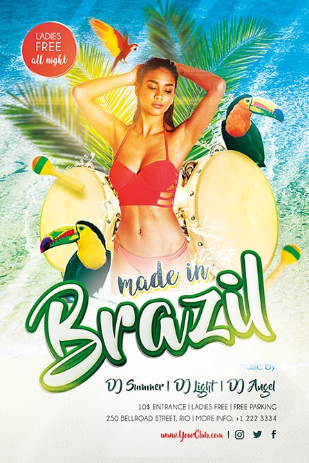 Made in Brazil Free PSD Flyer Template Best of Flyers