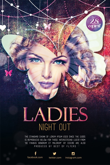 Ladies Party Free PSD Flyer Template Best of Flyers