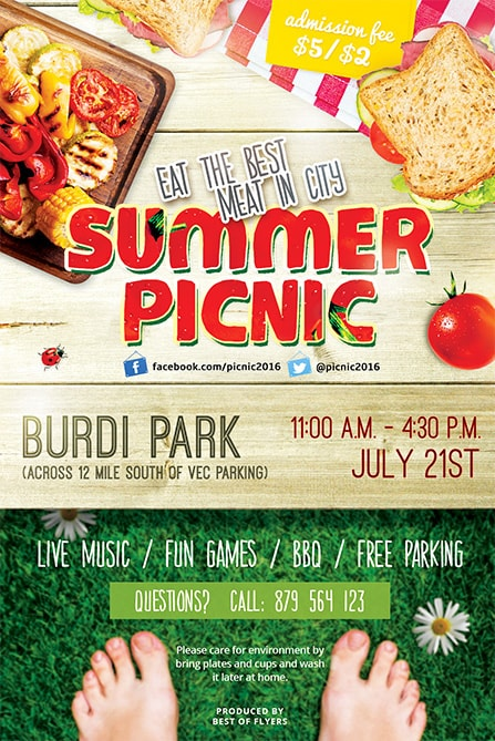 Summer Picnic Free PSD Flyer Template Best of Flyers - picnic flyer template