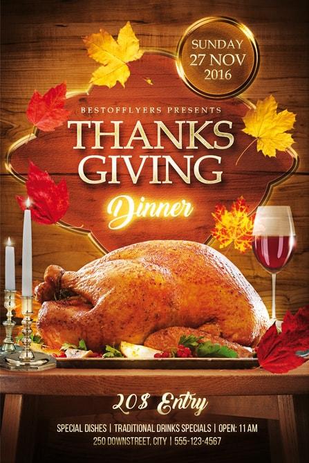 Thanksgiving Dinner Free Flyer Template Best of Flyers - Dinner Flyer