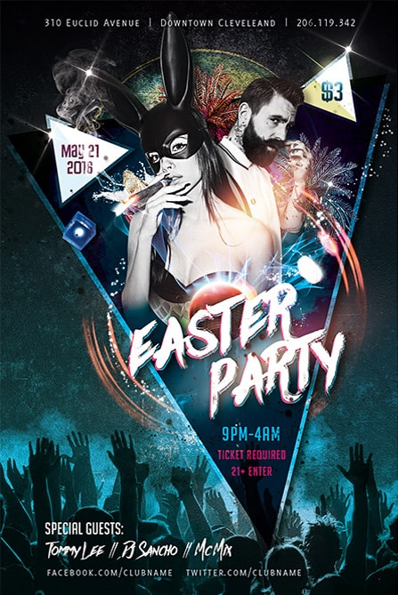 Easter Party Free Flyer Template Best of Flyers - easter flyer template