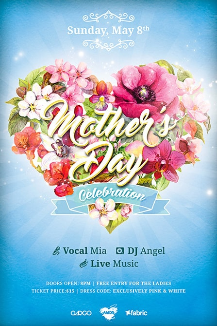 Mothers Day Celebration Free Flyer Template Best of Flyers - mothers day flyer