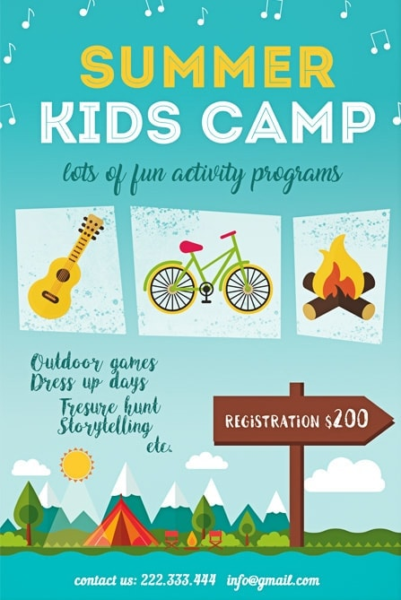 Summer Kids Camp Free Flyer Template Best of Flyers - Summer Camp Flyer Template