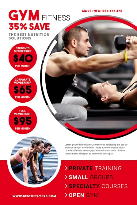 Fitness Gym Free Flyer Template Best of Flyers