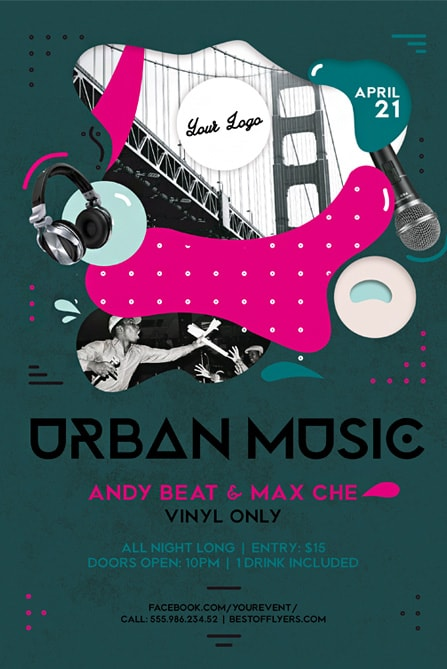 music flyer templates urban - Erkaljonathandedecker
