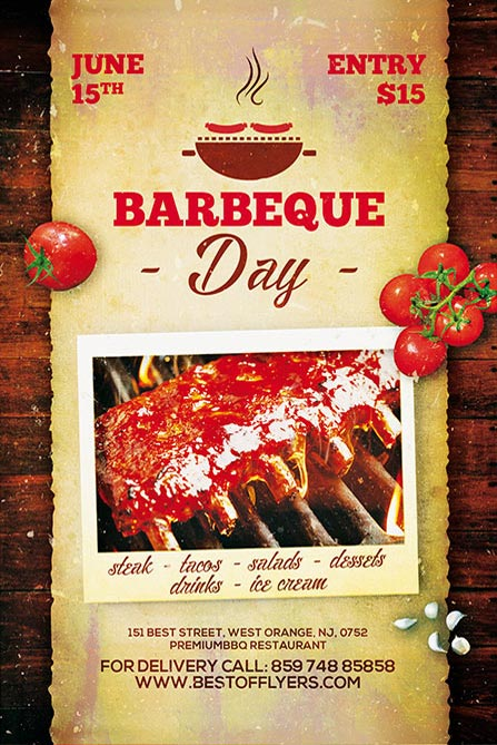 BBQ Day Free Poster Template Best of Flyers