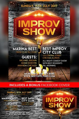 Open House Free PSD Flyer Template Best of Flyers - comedy show flyer template