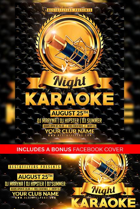Karaoke Night Free Poster Template Best of Flyers