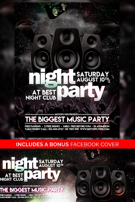 Party Night Free Poster and Flyer Template - Download Free Flyer Designs - free flayer design