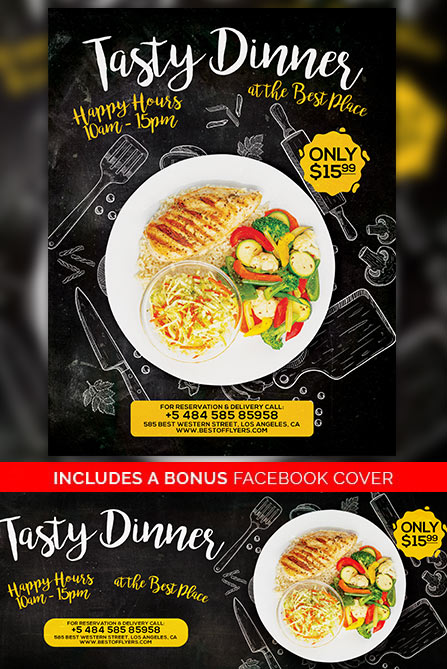 Tasty Dinner Free Poster Template Best of Flyers - Dinner Flyer