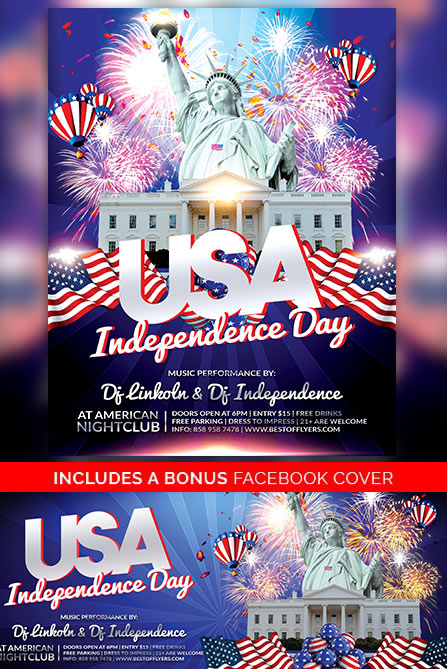 Independence Day Free Poster Template for 4th of July Celebration Events - independence day flyer