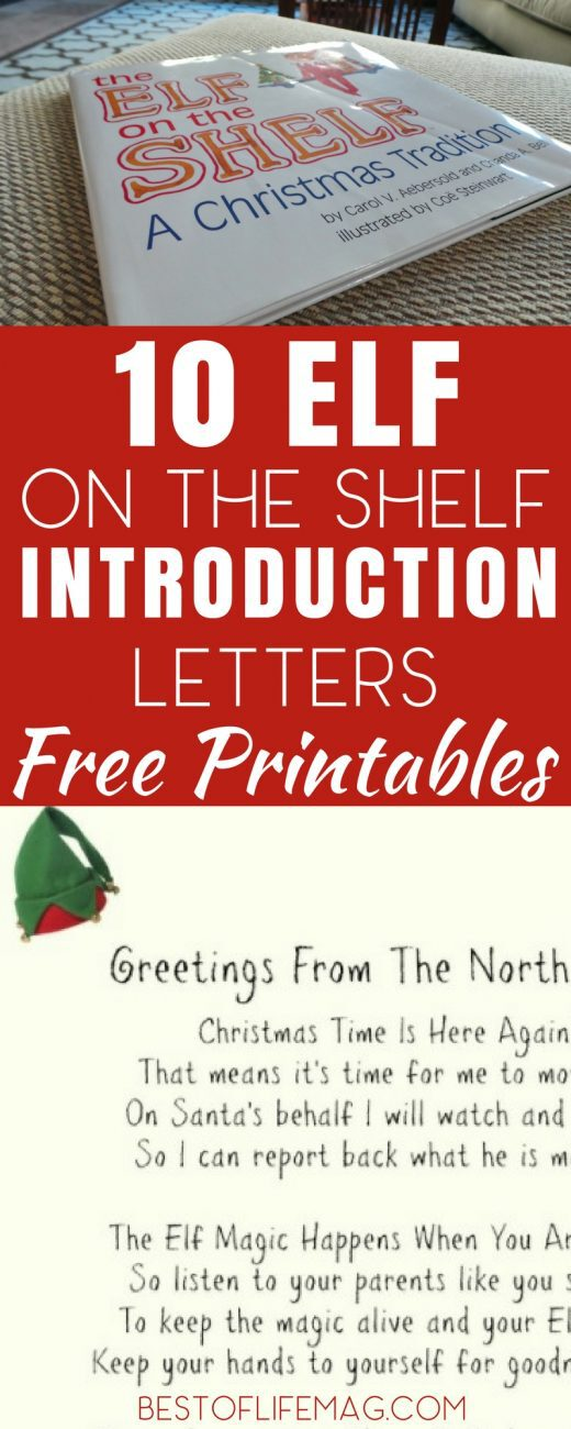 10 Elf on the Shelf Introduction Letters {Printable!}- The Best of