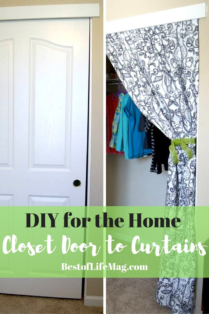 Closet Curtain 10 Minute Diy Closet Doors To Curtain Project The Best Of Life