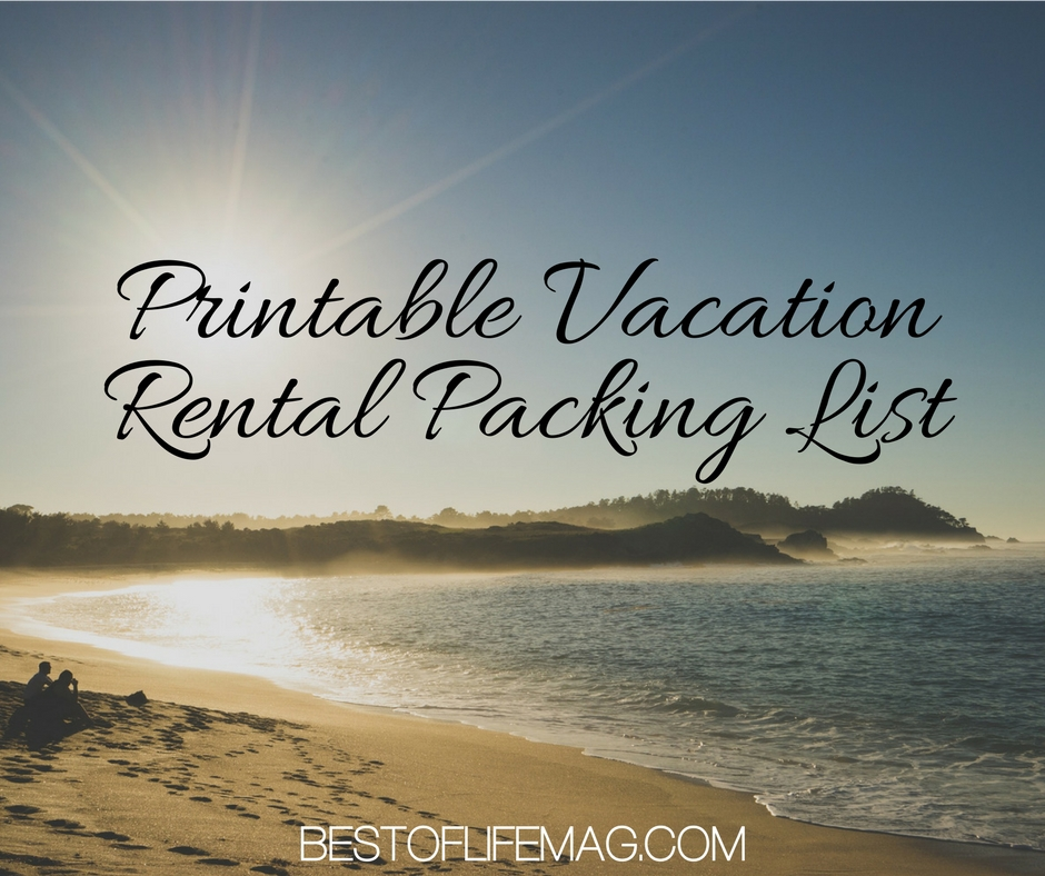 Printable Vacation Rental Packing List - The Best of Life Magazine