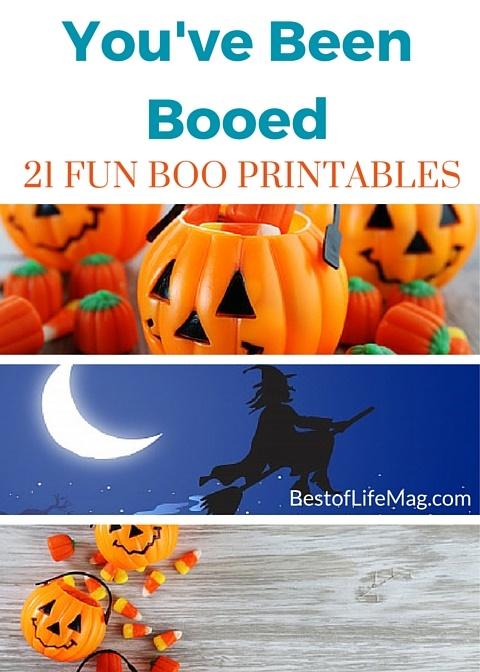 You\u0027ve Been BOOed 21 Halloween Boo Printables and Activities - Best