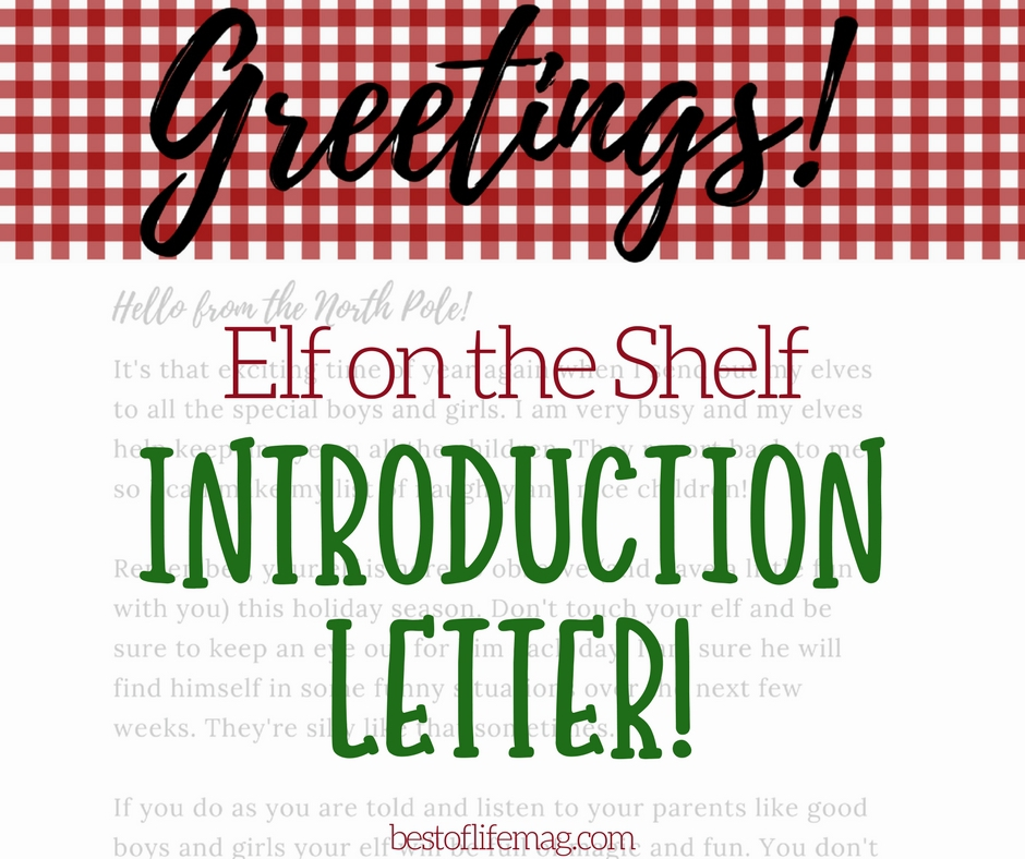 Elf on the Shelf Introduction Letter Printable - Best of Life Magazine
