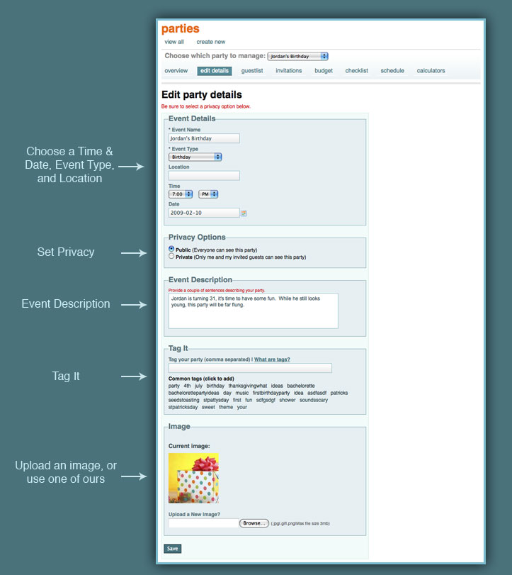 Party Planning and Event Planning Tools - party planning schedule
