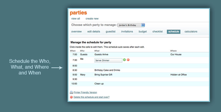 Party Planning and Event Planning Tools