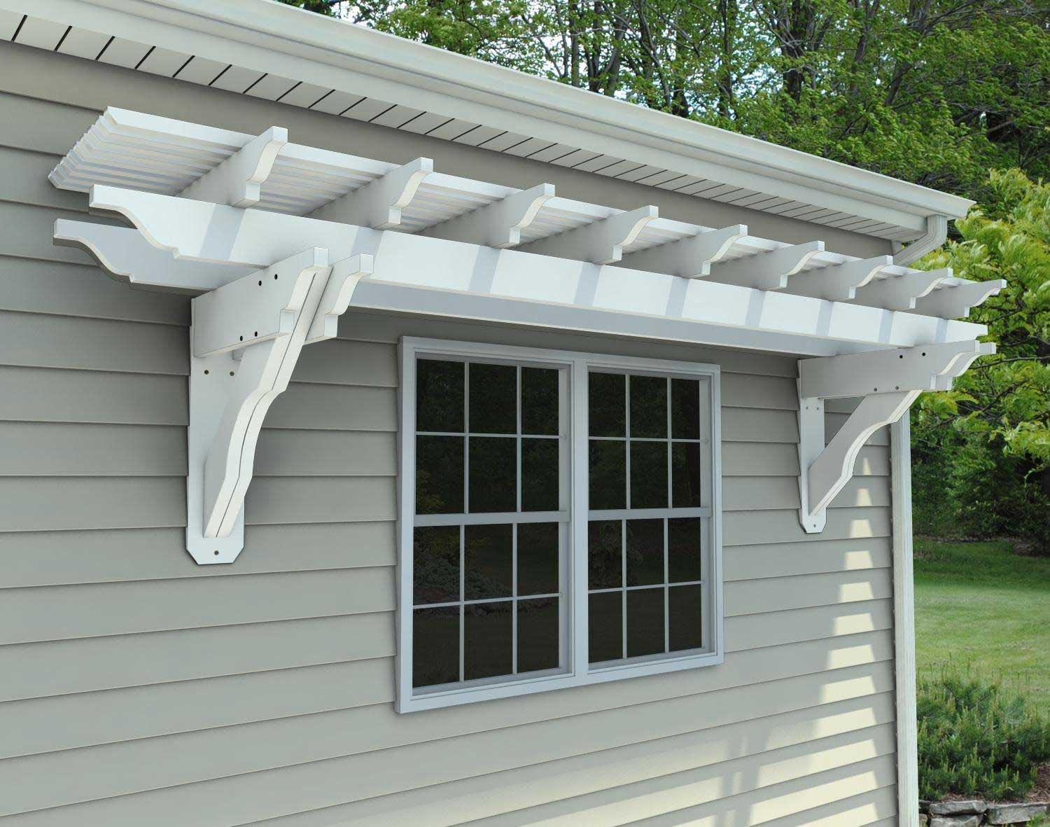 Simple Pergola Attached To House Vinyl Attached Pergola Kits Pergola Design Ideas
