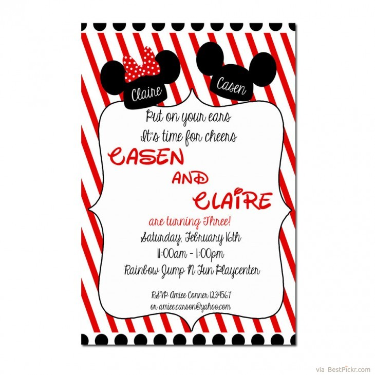6 Incredible Mickey Mouse Invitations Printable Ideas For Kids Party